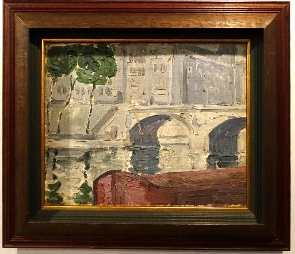 Carlos Merida Paisaje de Paris Museo Nacional Arte Moderno Ciudad Guatemala