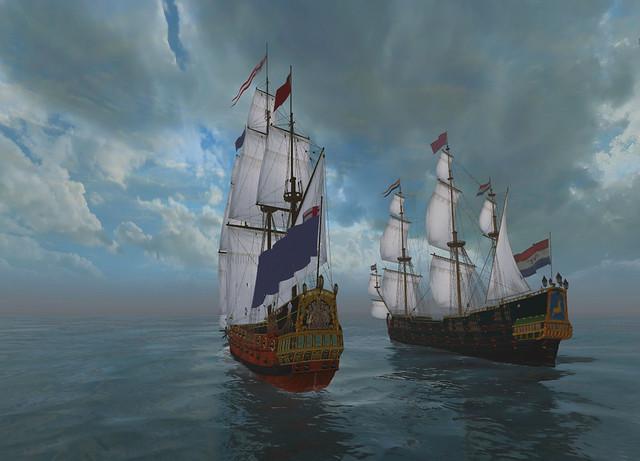 English Third Rate vs Dutch WIC Heavy Escort Fregat
