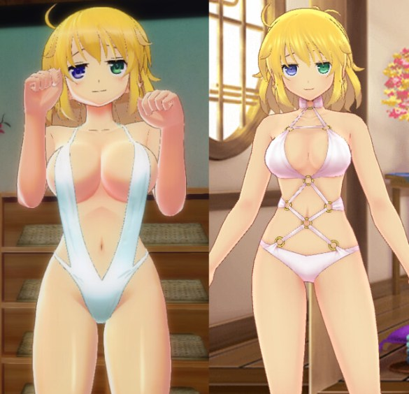 Senran Kagura Peach Beach Splash vs New Link