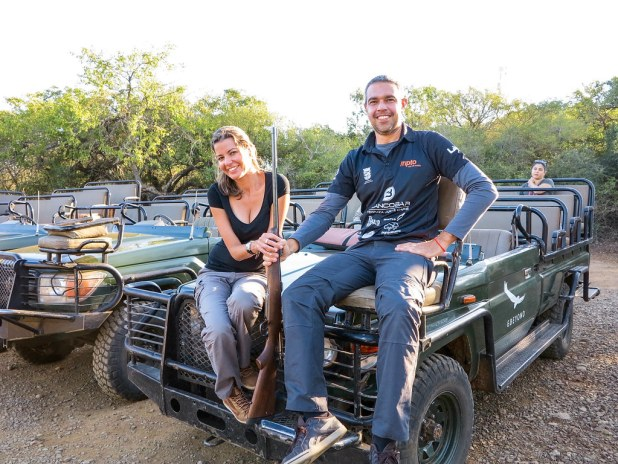 Salida del safari en Sudáfrica