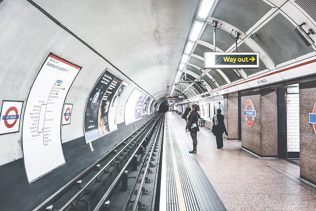 Waiting for the Tube in London