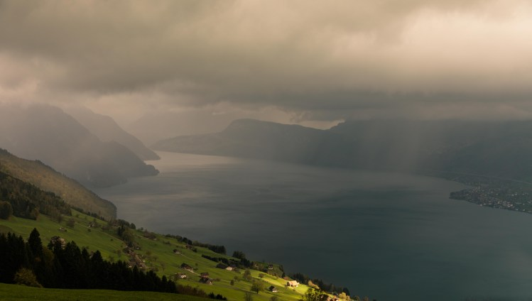 Rainy Day In The Swiss Mountains