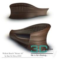 "67.Walnut Bench ""Steam 22"" by Bae Se Hwa - 3D Mili ..."