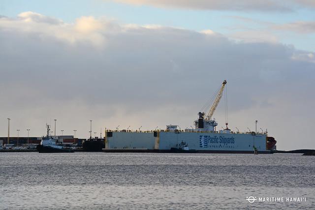 dry dock arrival in harbor