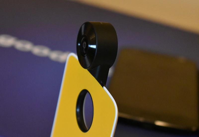 Moto 360 camera mod - dual 120 degree cameras