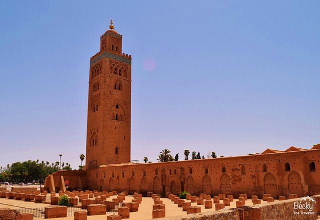 Marrakesh/Marrakech Guide - Koutoubia Mosque Marrakesh, Morocco near main Jemaa El Fna Square