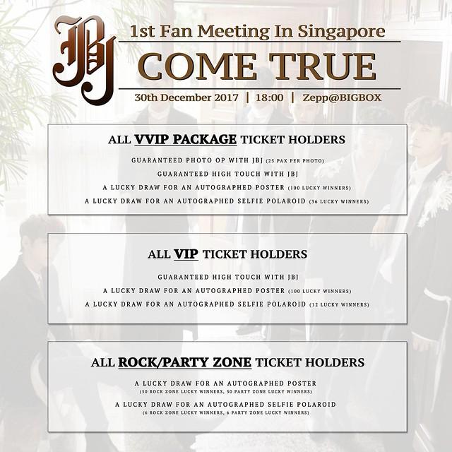 JBJ 1st Asia Fan Meeting 'Come True' Tour in Singapore Fan Benefits