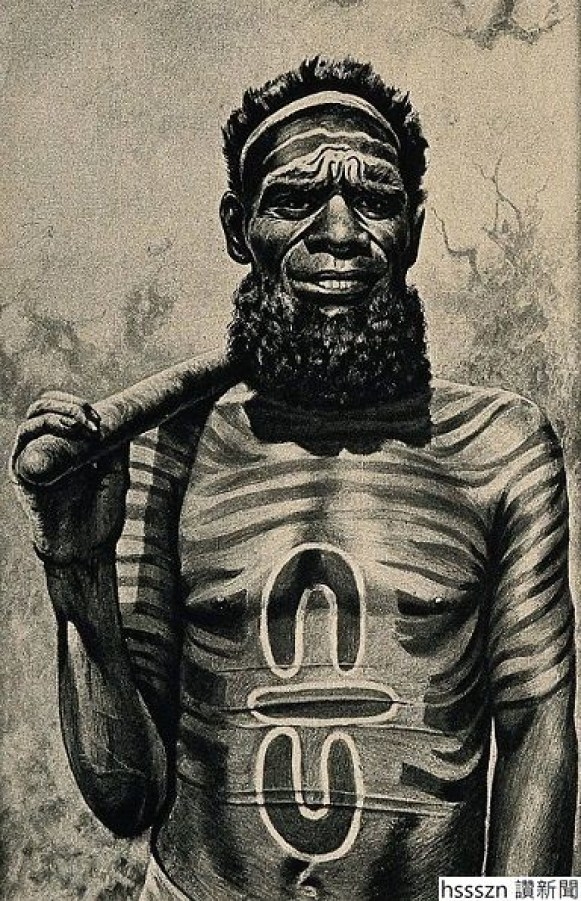 A_shaman_or_medicine_man_with_extensive_body_painting_Worga_Wellcome_V0015977EL-1-600x928_384_595