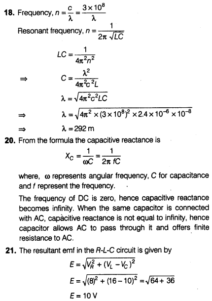 NEET Physics Chapter Wise Mock Test - Alternating Current
