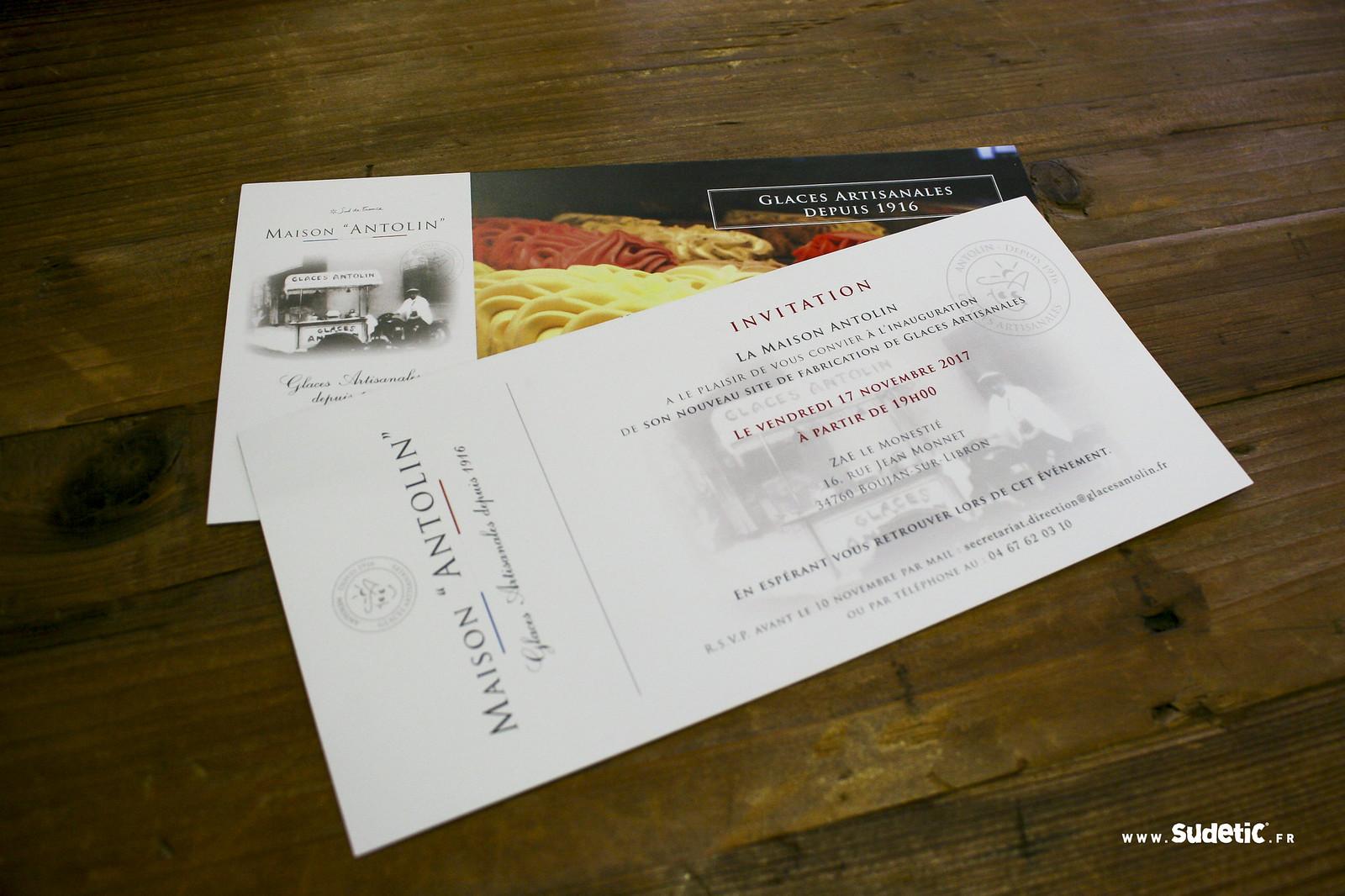 Sudetic cartes d'invitation Glaces Antolin-3