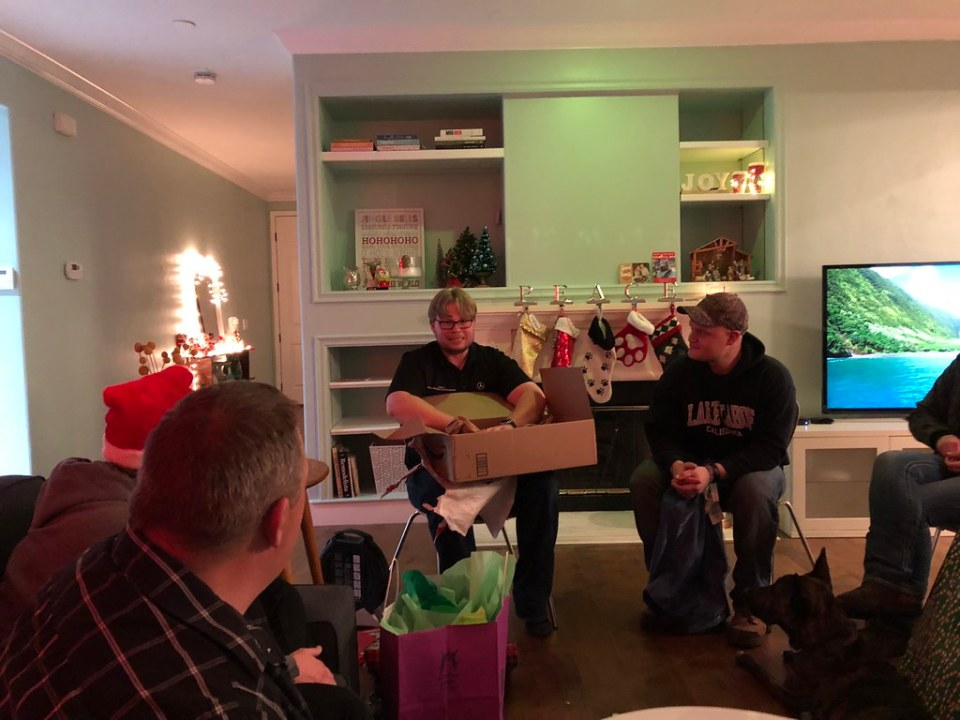 Gift exchange with friends and family