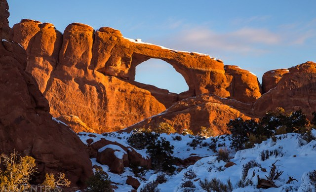 Skyline Arch Sunrise