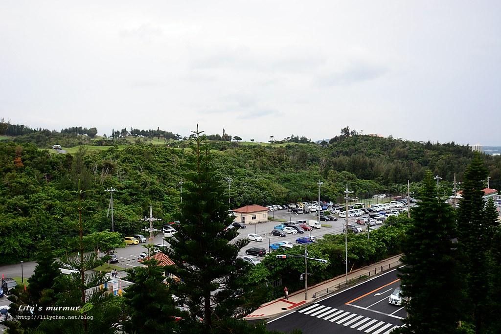 這是從我們房間露台看出去的風景,對面坡上有個高爾夫球場。