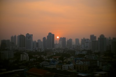 Hot Bangkok Sunset