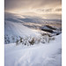 Winter light from Annanhead Hill near Moffat, Scotland.