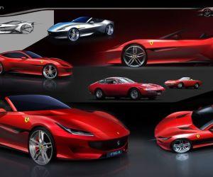 Ferrari Portofino exterior rendering