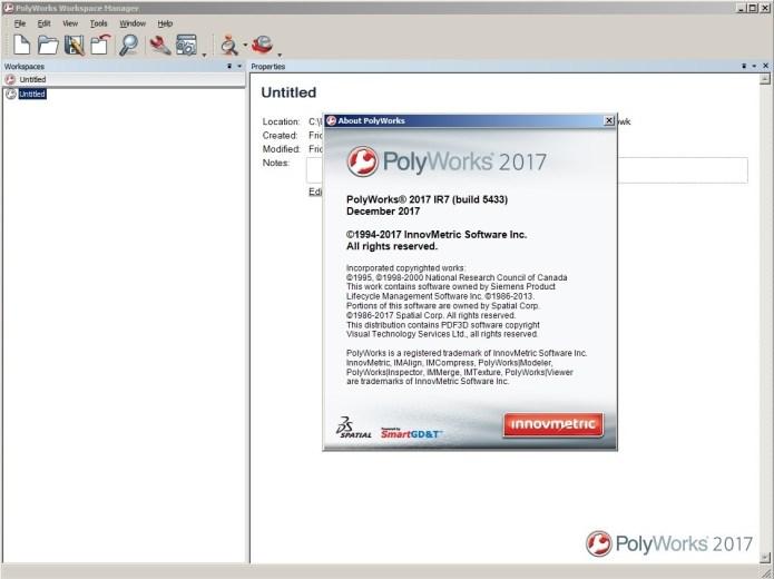 Working with InnovMetric PolyWorks 2017 IR7