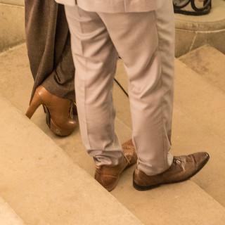 Drei braune Schuhe…