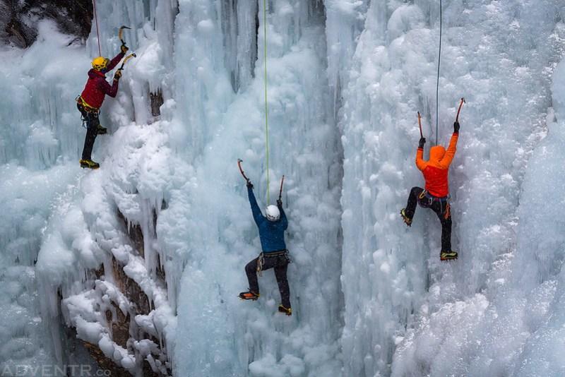 Three Ice Climbers