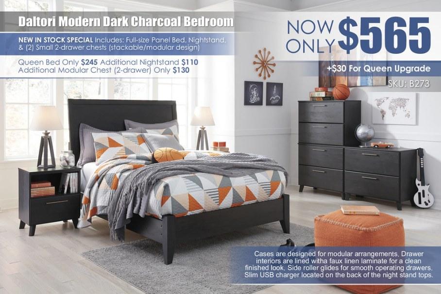 Daltori Full Dark Charcoal Bedroom_B273-45(3)-87-84-91