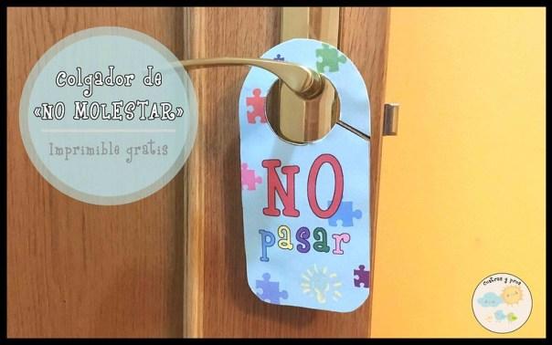 Colgador no molestar para la puerta de los niños. Imprimible gratis