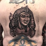Added to Dave's existing Egyptian backpiece. The rest not by me. Done at New Wave, London #egyptian #blackandgrey