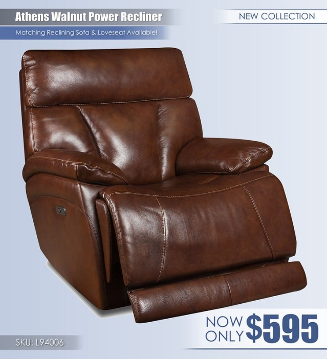 Athens Walnut Power Recliner_L94006
