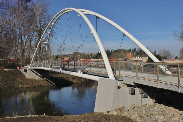 Green River pedestrian bridge in Southcenter