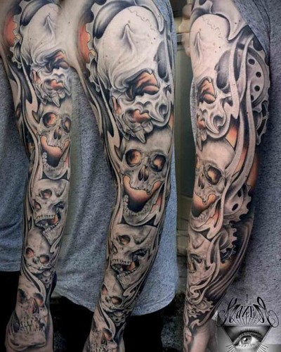 Skulls Tattoo Sleeve | Best Tattoo Ideas Gallery