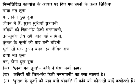 Chapter Wise Important Questions CBSE Class 10 Hindi A
