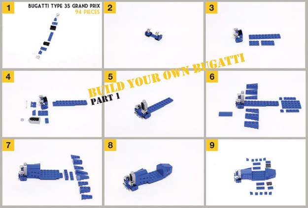 Build Your Own Vintage Bugatti From Lego Instructions The