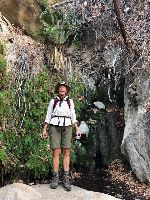 Borrego Springs - Linda at the end of the hellhole trail