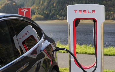 Tesla Model X Supercharger charging