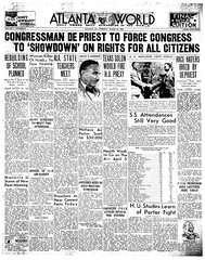Atlanta paper highlights DePriest Jim Crow resolution: 1934