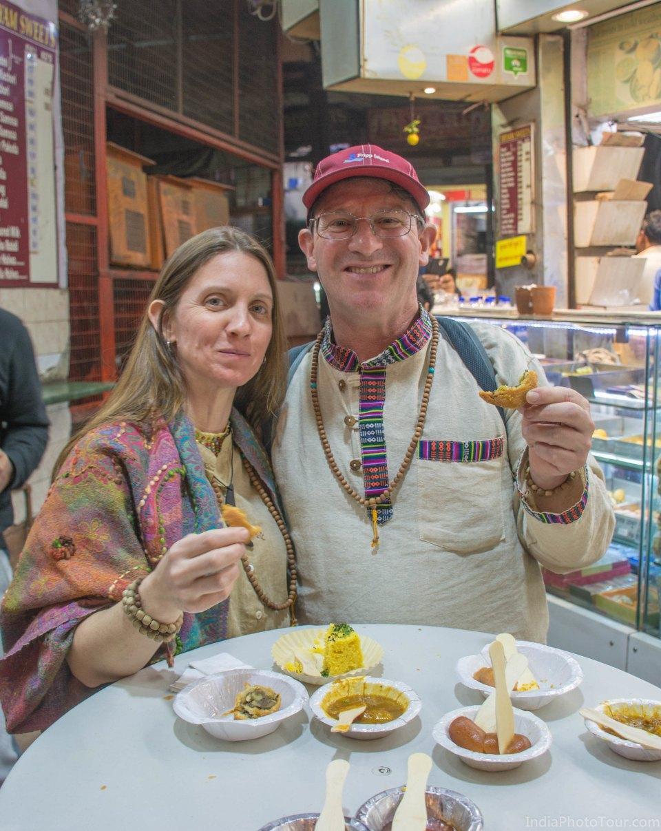 Street food tasting in Old Delhi