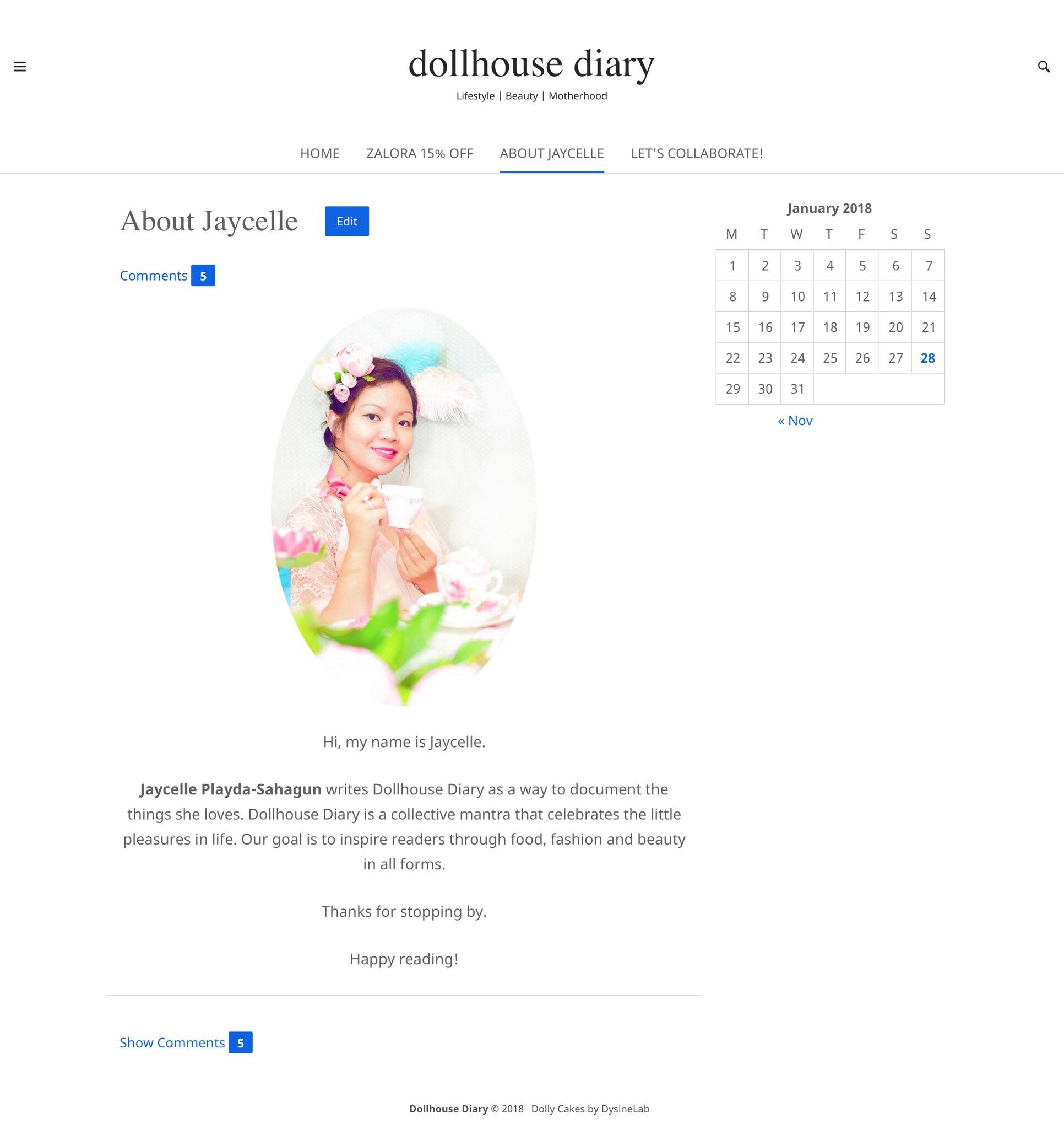 Dolly Cakes WordPress Theme