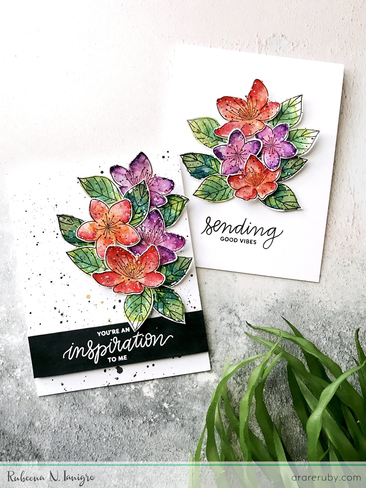 PPP March Blog Hop - Floral Card Set - Rubeena Ianigro