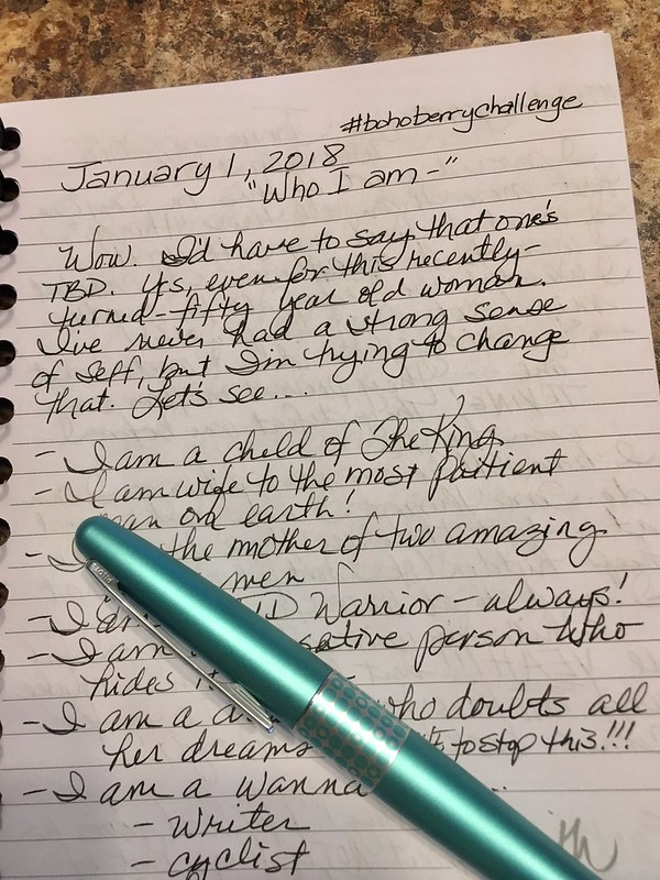 Jan 1 in my journal -- a lot of room for improvement #bohoberrychallenge