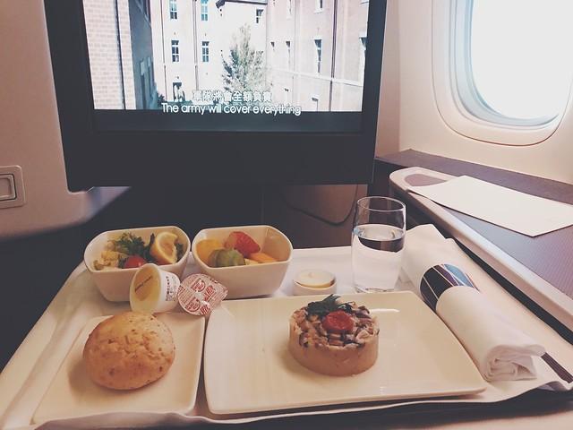 [飛機餐] 香港 ⇄ 東京 國泰航空 Cathay Pacific 商務艙 西式乳蛋類素食餐 蛋奶素 (Vegetarian Lacto-Ovo Meal) B777-200 / B777 ...