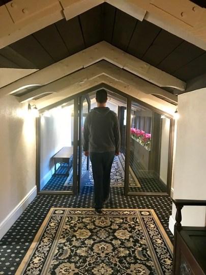 low hallway mission inn
