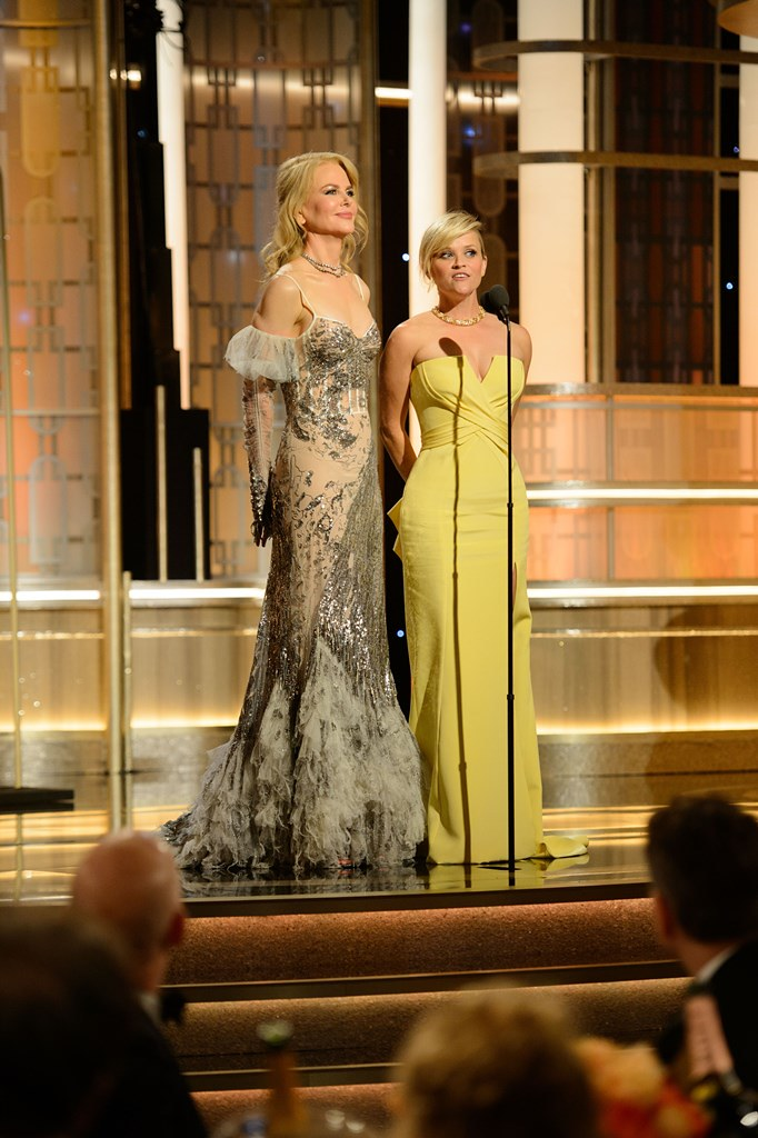 Nicole Kidman and Reese Witherspoon present at the 74th Annual Golden Globe Awards at the Beverly Hilton in Beverly Hills, CA on Sunday, January 8, 2017.