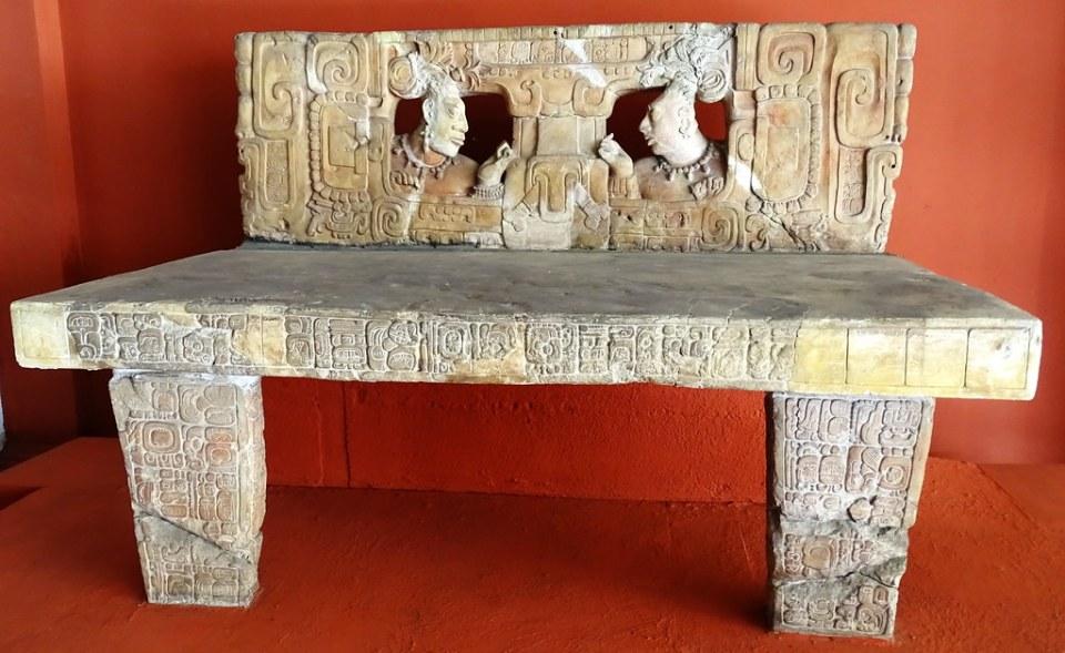 arte maya Trono 1 Estructura J-6 Piedras Negras Clasico Museo Nacional de Arqueologia y Etnologia Ciudad de Guatemala