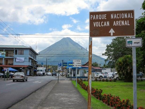 La Fortuna y el volcán Arenal