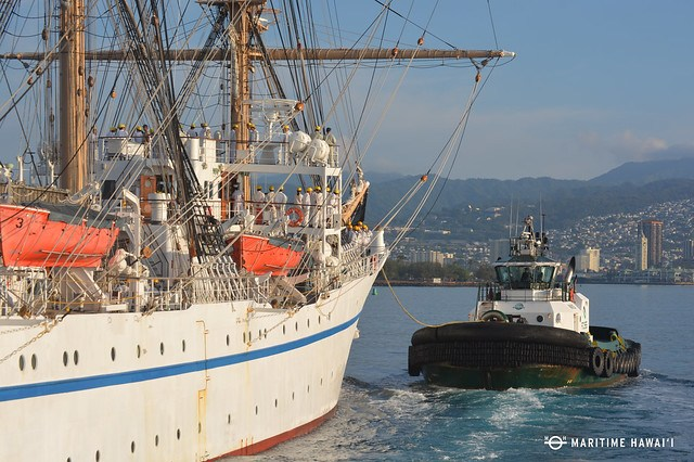 Nippon Maru approaching Honolulu Harbor