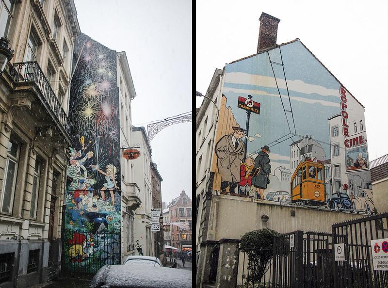 Vægmalerier i Bruxelles