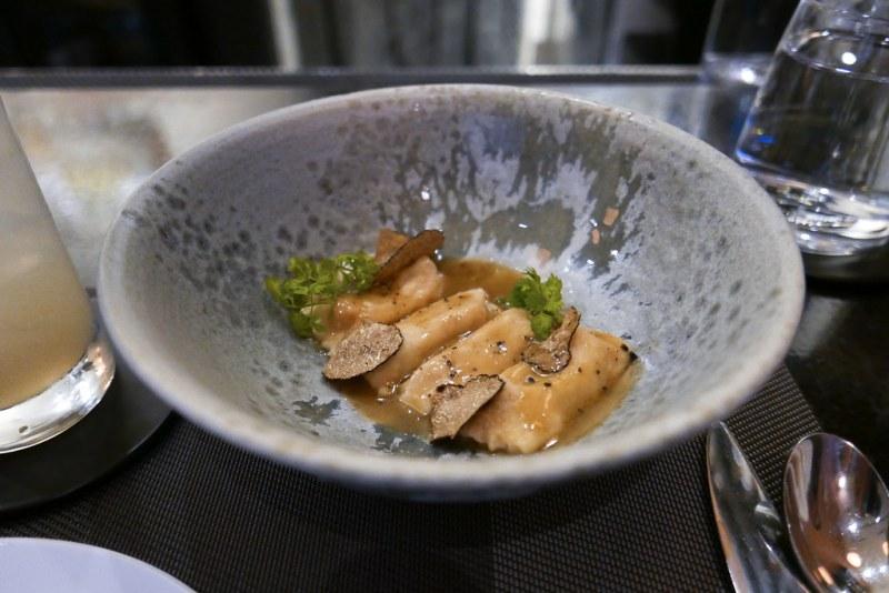 BAR TASTING MENU: Pheasant Agnolotti, Parmesan Broth, Truffle