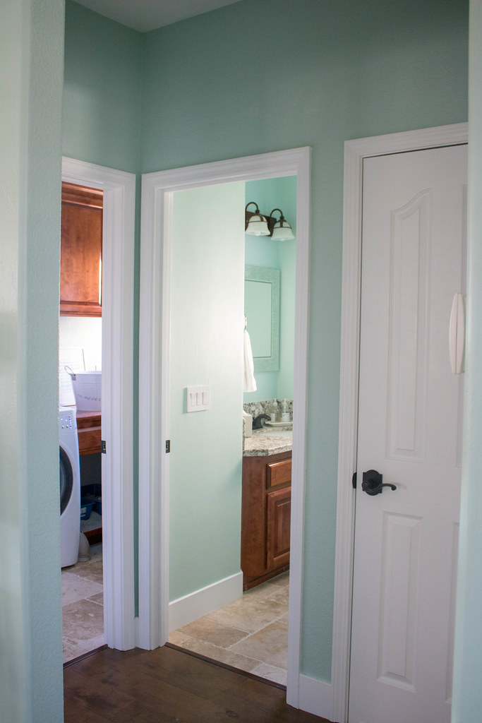 Laundry Room, Powder Room, and Closet