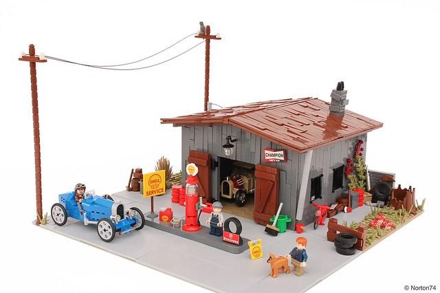 Antique gas station