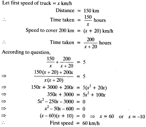 Important Questions for Class 10 Maths Chapter 4 Quadratic