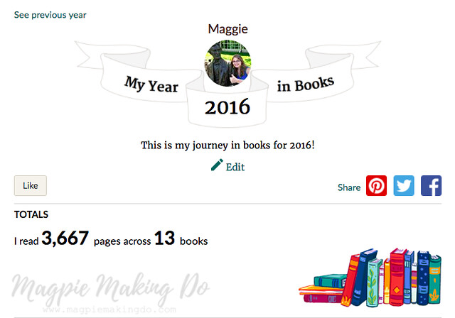 2016 Year in Books